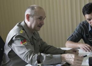 O tenente comandante do 3ºRPMon, Fernando Carlos Bicca. Foto: Matheus Moraes – Nexjor