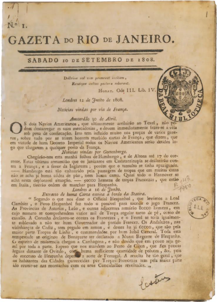 Gazeta do Rio de Janeiro 1808
