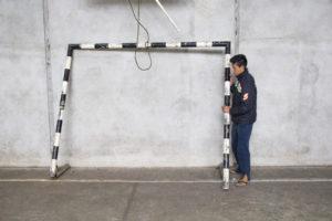 Problemas na estrutura da escola são visíveis e motivo de reclamação dos alunos. Foto: Matheus Colombo