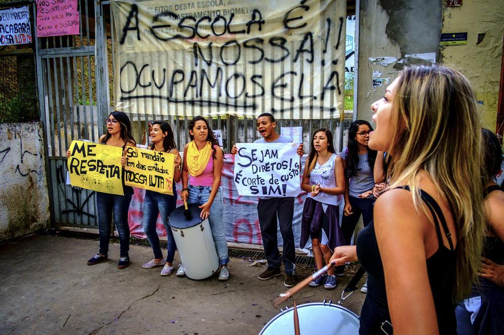 Escola Estadual Diadema primeira a ser ocupada em São Paulo. Foto: Felipe Larozza/VICE